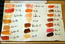 Painting skintones / Color mixing for painting skintones, skin tones in figurative painting.