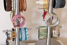 Jewellery storage DIY