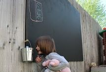 Outdoor chalkboard, brilliant!