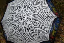 Sombrillas a crochet
