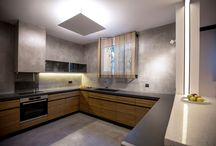 Kitchens with KOURASANIT materials