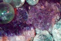minerals, crystals and gems
