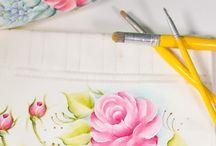Pincéis pintura em tecido