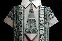 origami tie and shirt