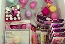 Eos , baby lips and other makeup
