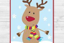 Pin the reindeer nose