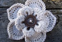 Crochet flowers and stars