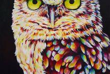 Oilpainting owl