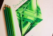 Diamond drawings