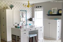 craft room ideas / by Susan Lamkin