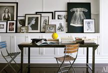 HOME OFFICES/WORK SPACES / Everyone needs a special place to work or craft at home. We all deserve a pretty and well appointed space where we can work at our best. / by Linda Hibner