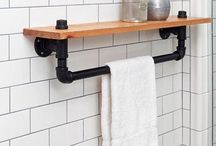 Industrial Decor Trend / Bring the industrial trend to your kitchen and bath spaces – think Edison lights coupled with raw, exposed surfaces and a little rustic warehouse appeal