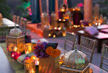 Moroccan Themed Event / Gorgeous lanterns, dimmed lights, fantastic rugs and bright coloured fabrics!