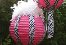 Zebra party decoration