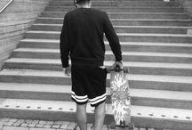 Skate some. / #fashion #street #longboard #skate #reebok