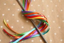 Washi Tape Ribbon Wands