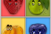 weird fruits / fruts icons
