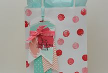 Stamped bags and accessories / Stamped packaging ideas made with Stampin' Up! Stamps and accessories.