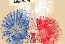 | 14 juillet party | / Plongez dans l'ambiance du 14 juillet avec ce tableau ! A vous les feux d'artifices, les bals populaires et les brunchs dans le jardin.