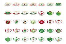 Christmas Tea Cup Teapot Stationery