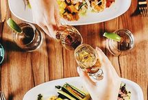 FOOD WITH FRIENDS / Delicious and mouth-watering food with friends at our wine bar in Vancouver, The Wine Bar by Provence Marinaside.