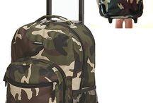Luggage Backpack Bag Suitcase Rolling Wheels Mens Kids Boys Girls School Job Travel Organizer Laptop