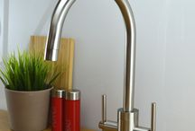 Our Brushed Steel Kitchen Taps