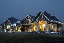 "Luxury Home Plans / Homes with luxury floor plans such as large estates or mansions may contain separate guest suites, servants' quarters, home entertainment rooms, pool houses, detached garages and more. ""Luxury"" itself is not a style but a lifestyle. Our luxury plans start at 3500 heated square feet and include large home floor plans over 11,000 square feet.  / by COOLhouseplans.com"