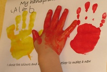 Hand, Foot & Fingerprints / Ideas for the EYFS / Early Years / ECE / Preschool / Kindergarten classroom. (There are more on my 'Christmas' board...)