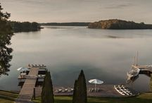 Lakeside Hotels / Cool lakeside interiors of design and comfy luxury at these boutique hotels of style.
