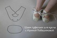molde sapato boneca