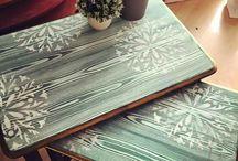 Ahşap mobilya masa sehpa v.s süsler boyama için