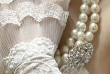 Lace. Pearls