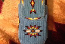 携帯ケースビーズ織り