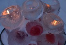 Outdoor Winter decor ie. ice lights