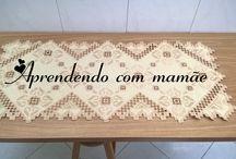 Centro de mesa bege em hardanger / Bordado hardanger feito em cânhamo grosso, com a linha esterlina bege