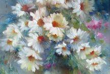 Цветы.Масло