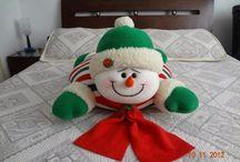 Muñeco nieve para cama