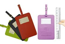 Dacasso Colors Traveler's Envy Luggage Tag / You can't miss your luggage from across the airport with Dacasso's new KING-SIZE luggage tag attached.  At 13″ x 5 7/8″ inches, it's the largest luggage tag available on the market.  You are sure to be the envy of other travelers while pulling your bags around the airport.  Need to add a logo, our luggage tag gives you the largest possible imprint area at 5.25″ W x 5″ H, and is available in four stylish colors.  Stock just arrived today.  Get your order in NOW!