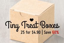 SU Kraft Tiny Treat Boxes / Ideas using the Kraft Tiny Treat Boxes, available for a limited time (while supplies last) on the Clearance Rack, here >>> http://goo.gl/6WeLS0. Packet of 25 boxes for $4.90 (save 60%).