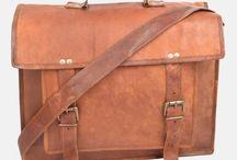 "17"" Leather Laptop Bag"