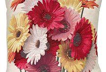 Flower Tapestry Throw Pillow @ Amazon.com