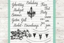 Stempelset Lasst-uns-feiern / Partytime.......für die richtige Party, die tolle Einladungskarten gestalten und die Vorfreude genießen