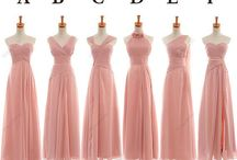 bridesmaids and flower girl dresses. / everyone likes to look good here are some pretty ideas for your bridesmaids and those cute flower girls