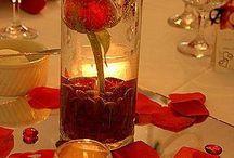 red gold wedding