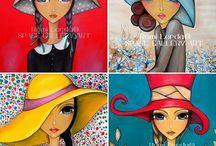 pintura niñas