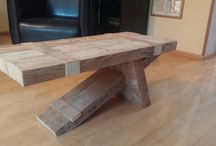 Furniture of reclaimed wood