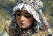 русский костюм в живописи