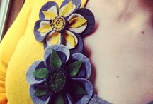 DIY with felt - flowers