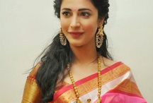 Saree South Indian look